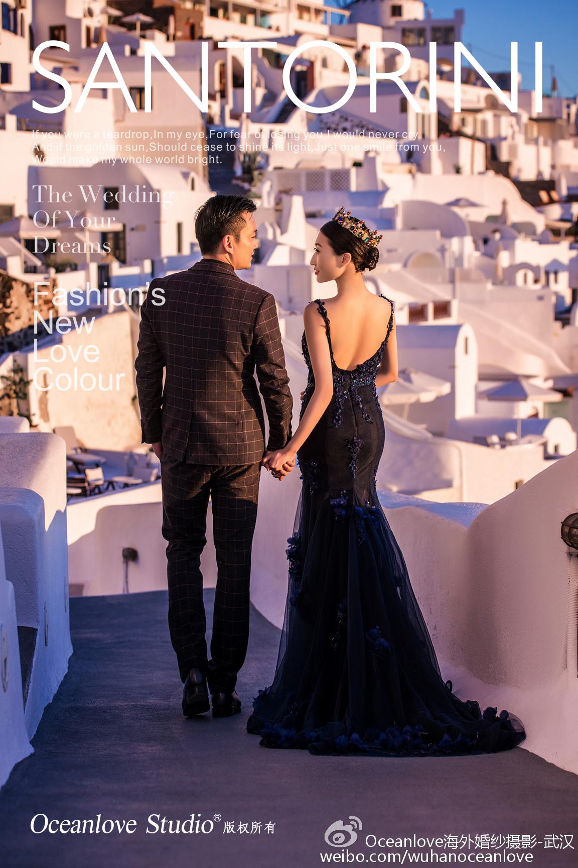 武汉圣托里尼婚纱照,武汉圣托里尼婚纱摄影,希腊圣托里尼旅拍,圣托里尼当地工作室